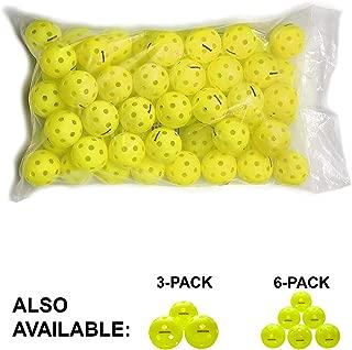 Gamma Sports Photon Outdoor Pickleballs, High-Vis Optic Green USAPA Approved Pickleball Balls (60 Pack)