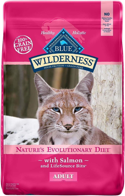 bluee Buffalo Wilderness High Predein Grain Free Adult Dry Cat Food, Salmon 11Lb