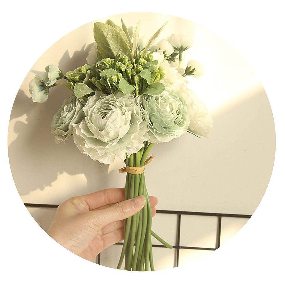定義する戦いに対してルリアンの植物の髪の毛の花束ブーケ造花メーカー家の装飾結婚式持ち株花道先導壁偽花DY1-2024,水色
