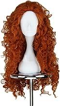 NiceLisa buncy curly wave long deep orange fashion mujeres niñas anime show party cosplay peluca