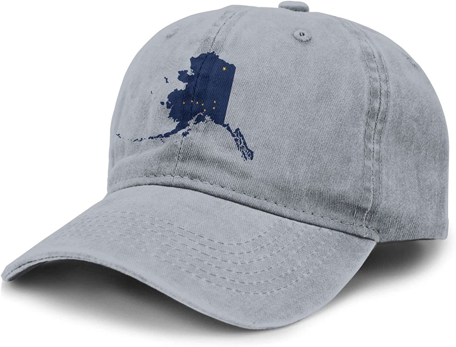 PARKNOTES Alaska Flag Country of America Cheap and Durable Adult Cowboy Hat Unisex