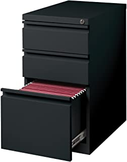 Hirsh Industries 3 Drawer Mobile File Cabinet File in Black