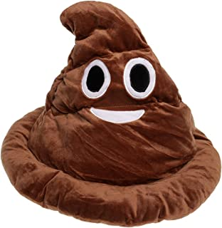 GIFTSHOP101 Emoji Poop Emoticon Soft Plush Hat Costume 13 inches
