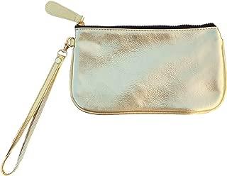 MONOBLANKS Colorful Leather Wristlet Wallet, Small Phone Purse Handbag,Zipper Wristlets Wallets Purse for Women