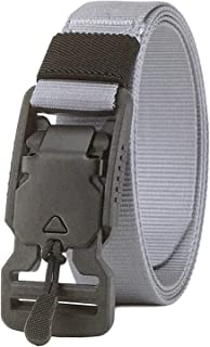 Longwu Nylon Canvas Military Tactical Waist Belt With Super Magnetic Quick-Release Buckle For Men and Women