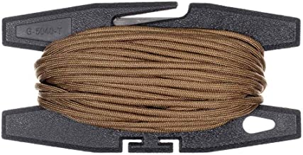 West Coast Paracord Lightweight Black Spool Tool with Built-in Cutter - Parachute Cord Included - Choose from 50 or 100 Foot Lengths of 550 7 Strand Paracord – Multiple Color Options Available