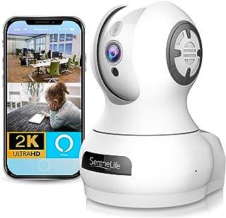 Alexa Compatible Indoor IP Camera - Auto PTZ Smart Tracking - Ultra HD 2k 1536p Smart Security Home Monitoring w/Motion De...