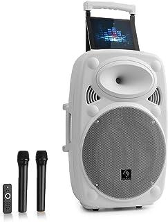 "auna Streetstar 12, Black Edition, mobiel PA-systeem, 12""(30,5 cm) subwoofer met maximaal 800 W vermogen, Bluetooth, USB/S..."