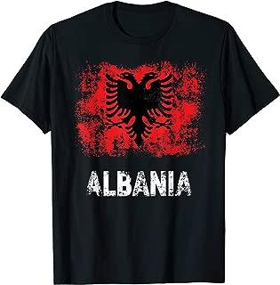 Albania Shirt Patriotic Kuq E Zi Distressed Albanian Flag T-Shirt