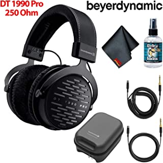 Beyerdynamic DT 1990 Pro Open Studio Reference Headphones 250 Ohm with Hard Case and Deluxe Headphone Cleaning Kit