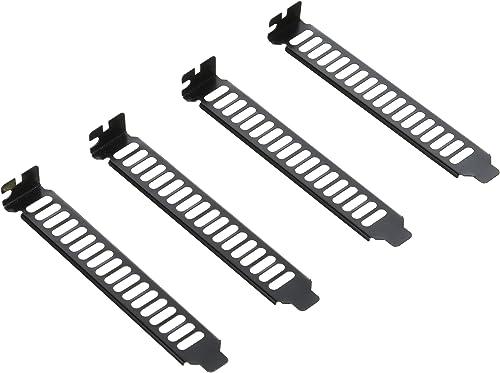 SilverStone SST-Aeroslots-BP - Plaque avec fente de ventilation PCI, 4 pièces, noir