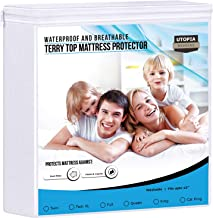 Utopia Bedding Premium Waterproof Mattress Protector - Breathable Fitted Mattress Cover (Twin)