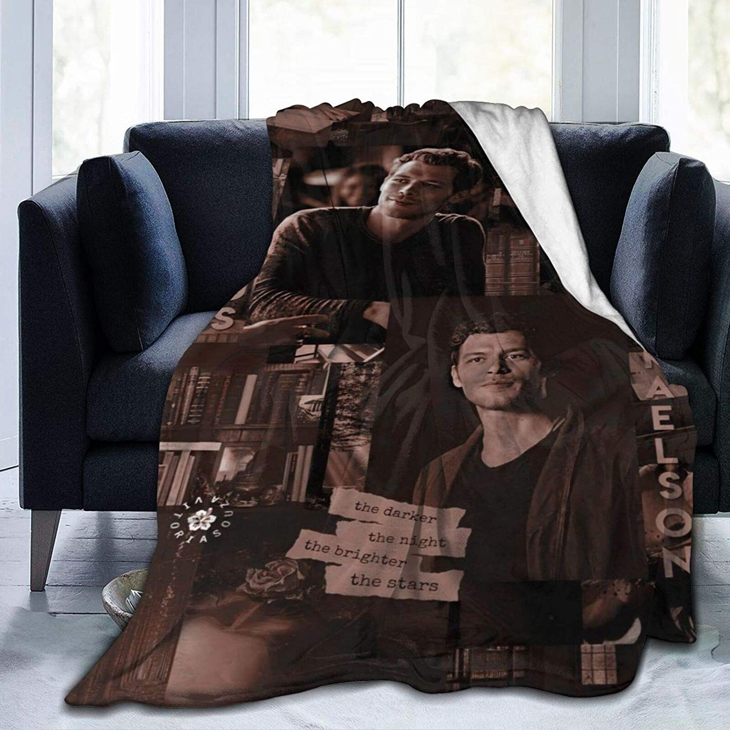 Vam-Pire Klaus-Mikaelson Movie Watching Blanket for Kids Adult,Anti-Pilling Flannel Plush Throw Blankets for Bed Sofa Living Room 50X40