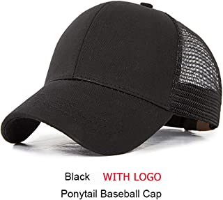New Ponytail Baseball Cap Women Messy Bun Snapback Summer Mesh Hats Sequin Caps M