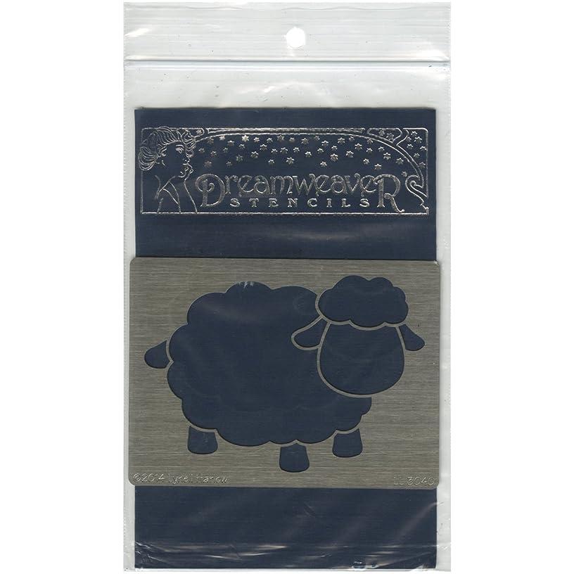 Stampendous Dreamweaver Stencil, Open Sheep