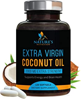 Organic Coconut Oil - Weight Support, Healthy Skin, Long Nails, Hair Growth, and Natural Energy - Virgin, C...