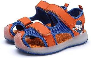 MaxMandy 2021 sandali casual alla moda estiva, sandali per bambini, luce LED a sette colori, ricarica USB, sandali da spia...