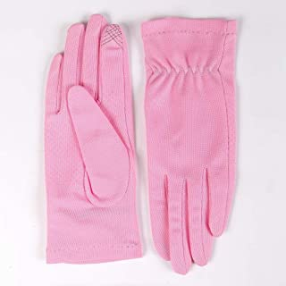 JCCOZ Touch Screen Gloves Sunscreen Breathable Non-Slip Outdoor Sports Driving Riding Gloves Full Finger Touch Screen (Color : Pink, Size : L)