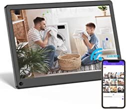 Digital Picture Frame WiFi 15 Inch Digital Photo Frame Full HD 1920x1080 IPS Touch Screen Display, Auto-Rotate, Share Phot...