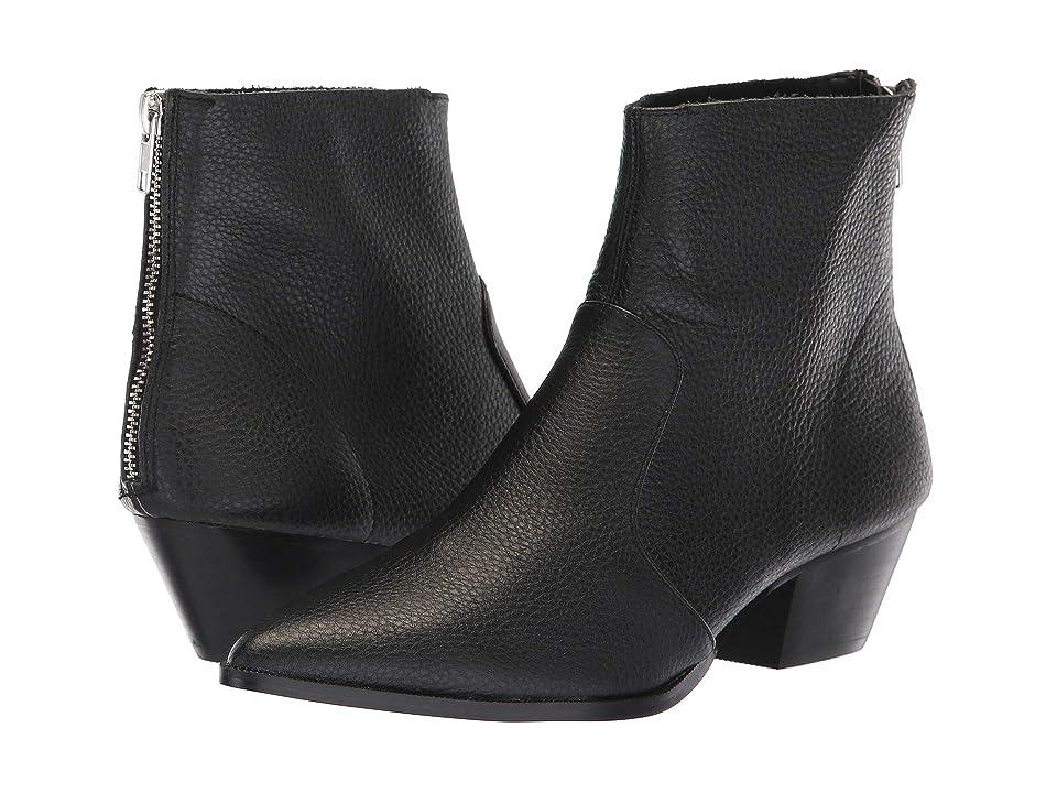 Steve Madden Cafe Bootie (Black Leather) Women