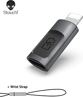 Stouchi iOS to USB C Adapter Type C (Female) to iOS (Male) Adapter USB C Adapter Compatible for iPhone 11Pro,iPad, iPhone X/ 8/7 Plus /6 PlusFast Charging Max Output 5V 2.4A by USB C Power Adapter