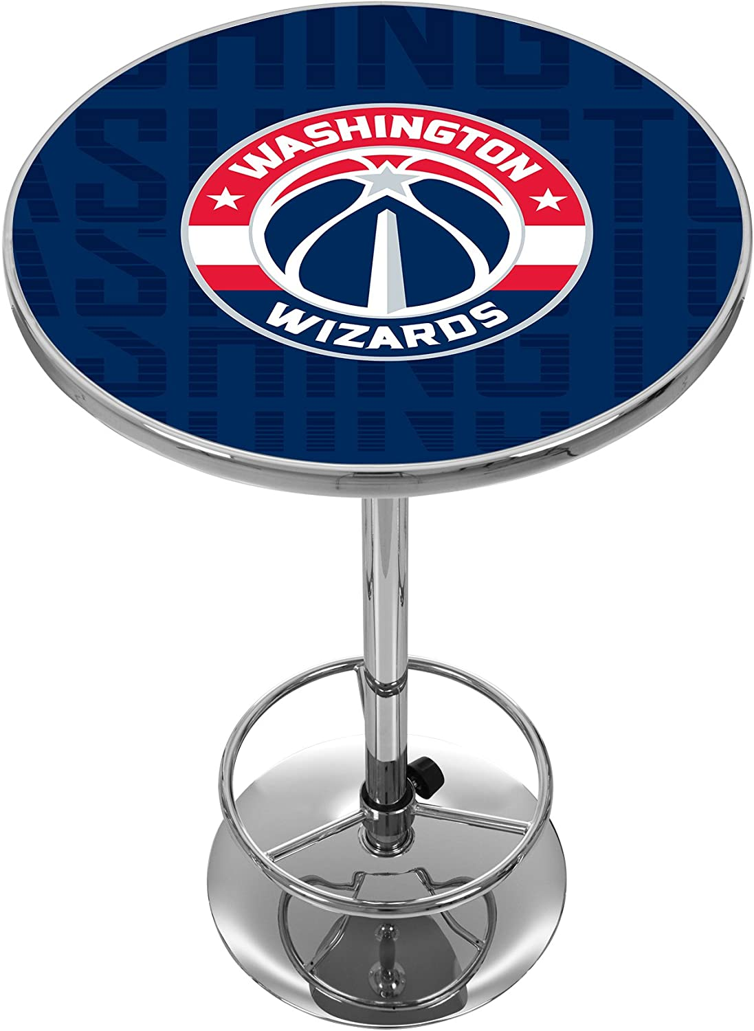 Trademark Gameroom NBA2000WW3 NBA Chrome Pub Table  City  Washington Wizards
