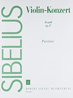 Violin-Konzert  d-moll op.47: Revidierte Fassung (1903-1904, rev. 1905). op. 47. Violine und Orchester. Partitur.