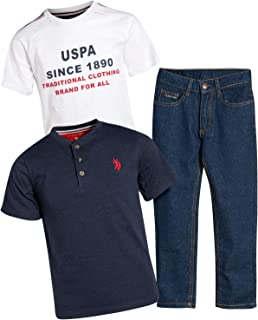 U.S. Polo Assn. Boy's 3-Piece Fashion Knit Top and Pant Set
