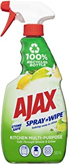 Ajax Spray n' Wipe MultiPurpose Kitchen Household Cleaner Trigger Surface Spray Baking Soda and Citrus Stone Safe Made in ...