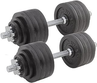 Titan Fitness Pair Adjustable Cast Iron Dumbbells Weight 105lb Total Training