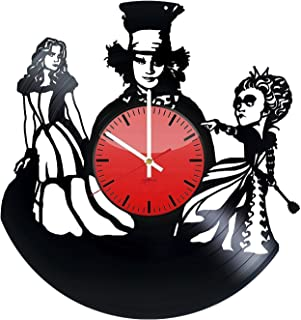 Alice in Wonderland Vinyl Record Wall Clock- Get Unique Home Room Wall Decor - Gift Ideas for Boys and Girls Adventure of ...