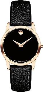 Movado - Museum Classic Reloj de mujer cuarzo suizo 28mm correa de cuero 0607061