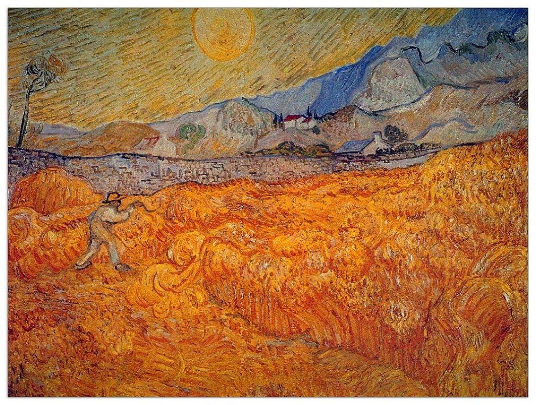 ArtPlaza TW90830 Van Gogh Vincent-Reaper Decorative Panel, 35.5x27.5 Inch, Multicolored