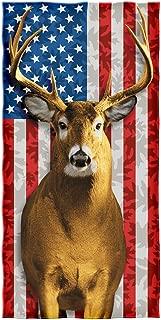 Dawhud Direct American Whitetail Deer Cotton Beach Towel