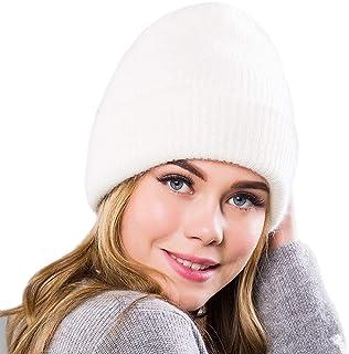 ACVIP Women's Angora Rabbit Hair Winter Skully Beanie Cap