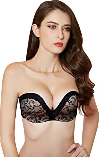 Women Hand Shape Custom Lift Invisible Wirefree Anti-Slip Strapless Push Up Bra