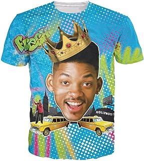 ZURIC Fresh Prince Shirt Funny Cute Actor Short Sleeves Crewneck T Shirt