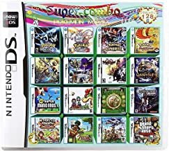 NDS Game Cartridge DS Games Pack Card, 208 In 1 Super Combo Multicart for NDS, NDSL, New 3DS, 2DS, New 2DS, NDSi, NDSi LL/...