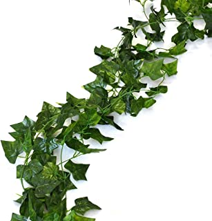 Unilove 156 feet Fake Foliage Garland Leaves Decoration Artificial Greenery Ivy Vine Plants for Home Decor Indoor Outdoors (Ivy Leaves)