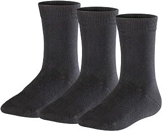 FALKE Socken Family 3-Pack Baumwolle Kinder schwarz grau viele weitere Farben verstärkte Kindersocken ohne Muster atmungsaktiv dünn und einfarbig im Multipack 3 Paar