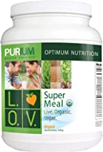 Purium Super Meal L O V - 1386 grams - Live Organic Vegan Meal Replacement Shake, Whole Food Protein Powder, May Support Weight Loss - Vegetarian, Gluten Free - 30 Servings