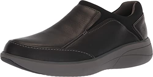 CLARKS Men's Un Rise Step Loafer, negro Tumbled Leather, 090 W US