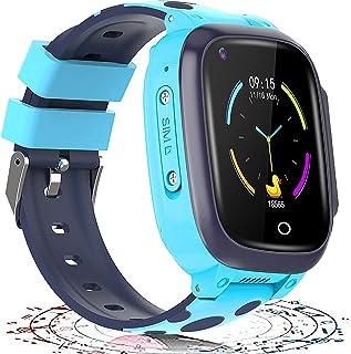 shjjyp Smartwatch NiñOs con GPS Y Llamadas Reloj Inteligente NiñA Ip67 Lbs Hacer Llamada Chat De Voz Sos Modo De Clase Cma...