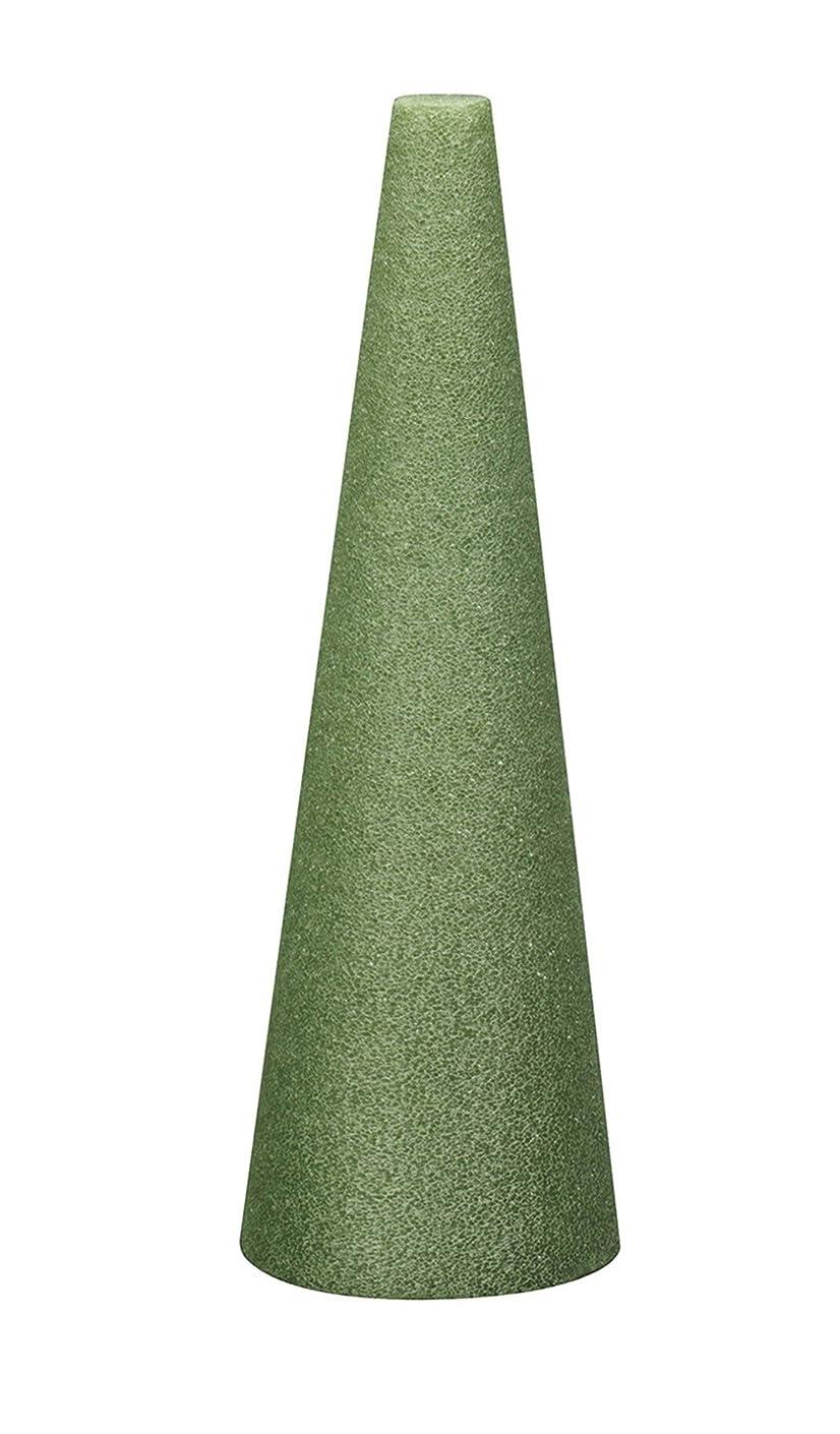 FloraCraft Styrofoam Cone 4.8 Inch x 17.8 Inch Green