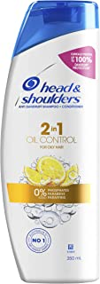 Head & Shoulders Oil Control 2in1 Anti Dandruff Shampoo and Conditioner with Citrus Extract for Oily Scalp 350ml