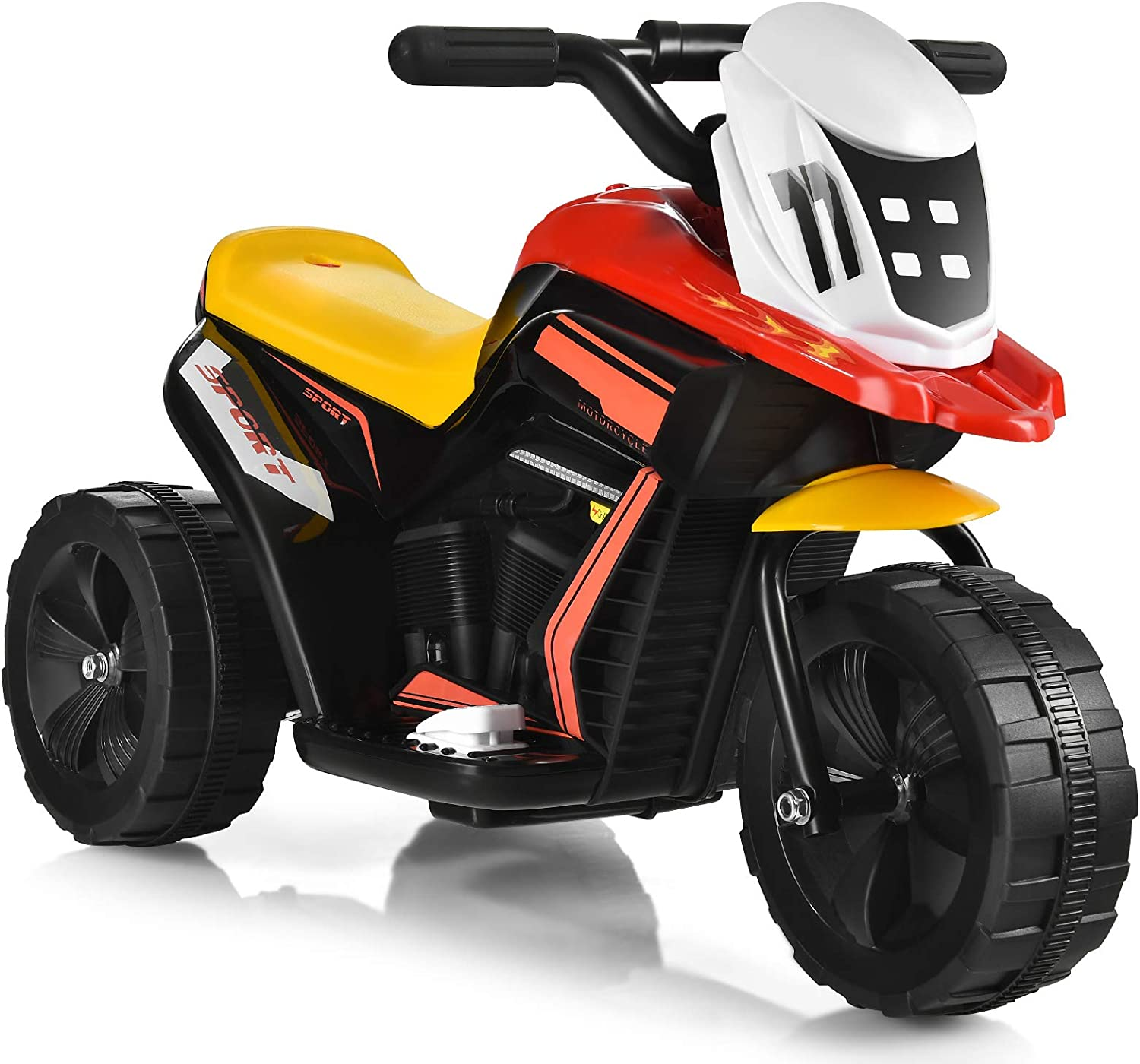 Costzon Kids Motorcycle Battery Powered 3 El Max 68% OFF Toy Ride Louisville-Jefferson County Mall On Wheel
