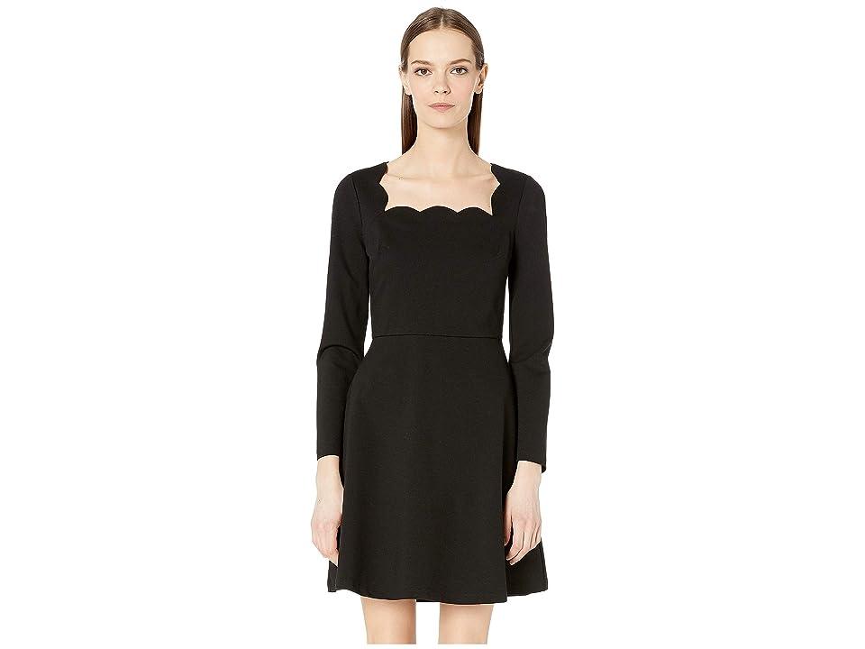 Kate Spade New York Scallop Ponte Dress (Black) Women