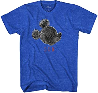 Disney Mickey Mouse Shirt Men's Mickey Sketch Son T-Shirt