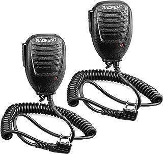 Walkie Talkie Handheld Speaker Mic, Shoulder Microphone for BaoFeng UV-5R 5RA 5RB 5RC 5RD 5RE 5REPLUS 3R+ Two Way Radio Accessories (2 Pack)