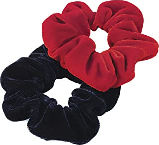 Set of 2 Velvet Hair Scrunchies One Brown One Beige. GIZZY® Girls